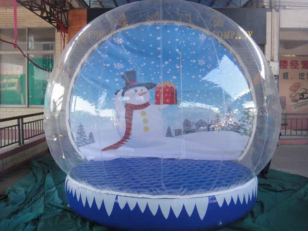 Hot sale inflatable christmas yard snow globes for outdoor for Indoor christmas decorations sale
