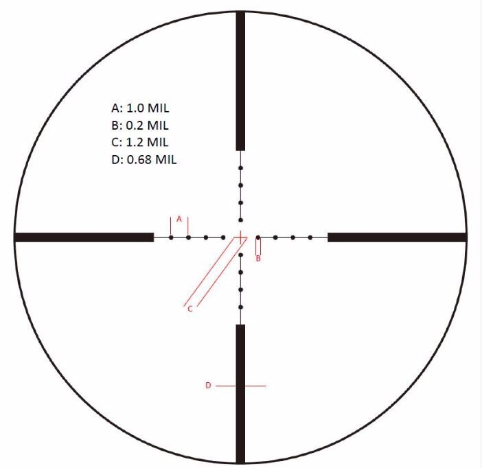 Vector Optics Siegfried 3-12x50 Tactical Rifle Scope with Front First Focal Plane MP Reticle FFP 34MM 1 Click 1CM