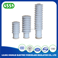 High voltage lightning arrester ceramic bushing porcelain Insulator