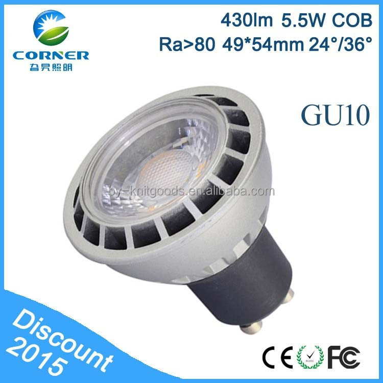 led bulb ce rohs gu10 AC100-240V 5W-6W 430LM new design made in CHINA