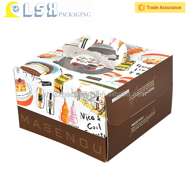 Wholesale Popular Cup Cake Gift Box Packaging Design