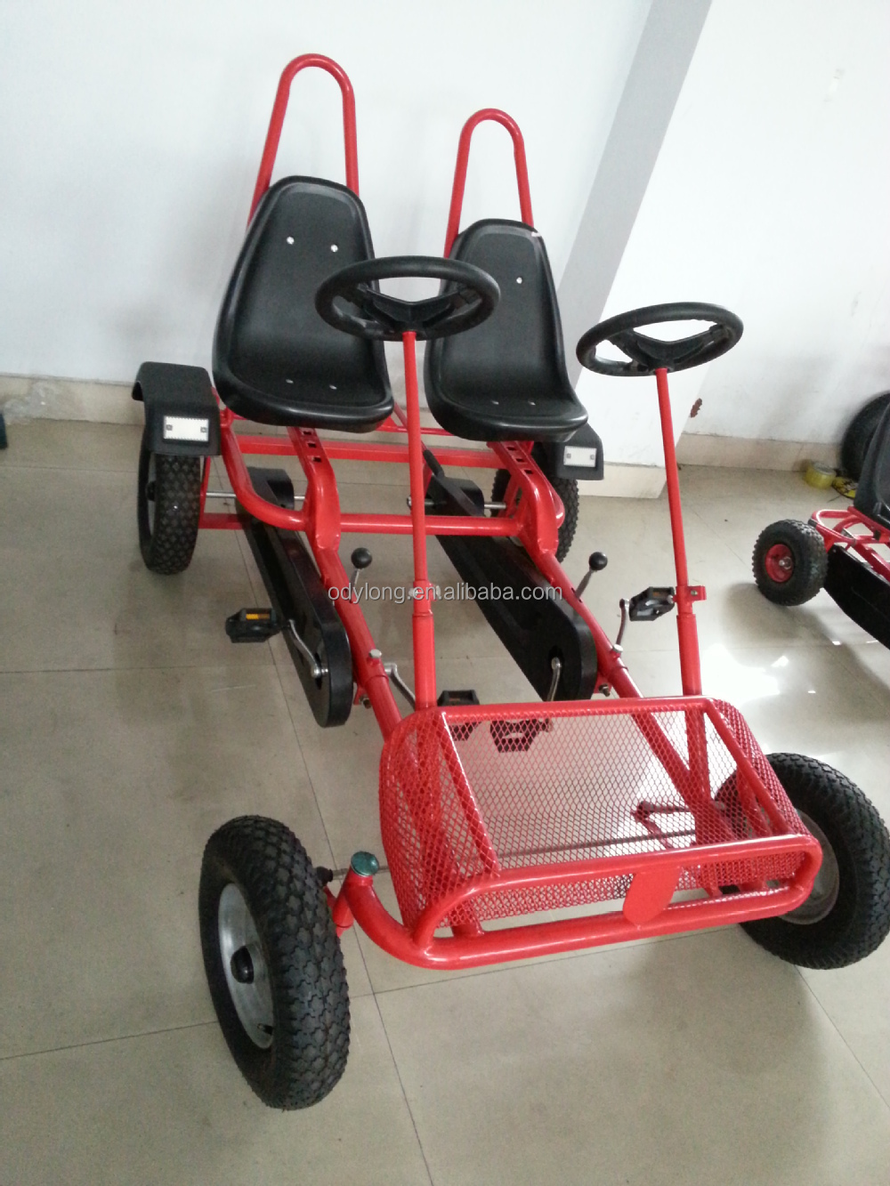 cheap two seat adult pedal go kart F2150
