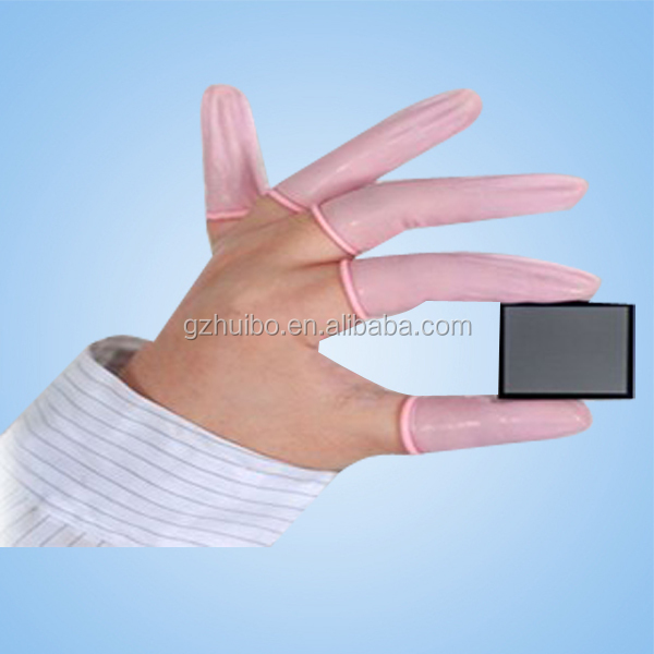 ESD Dust-free Cleanroom Rubber Latex Finger Cot, anti static finger cot