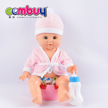 Cartoon kids play game set girl toy baby pee doll