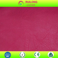 Imitation leather material for ladies bags, wallet material leather supplier