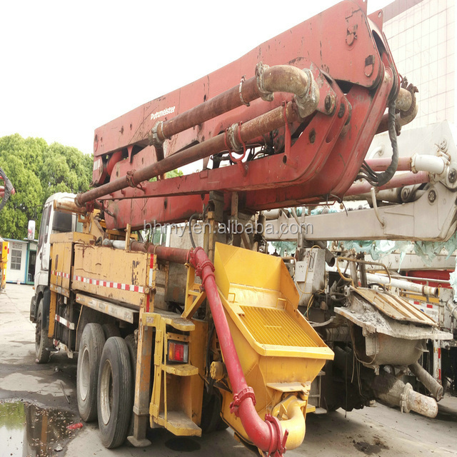 Putzmeister 37m used Concrete pump truck Japan's original remote control for concrete pump hot sell