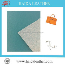 flocking pvc leather high quality 2015 pvc artificial leather for shoes