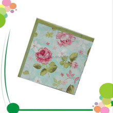 Cheap Flower Disposalbe Virgin Pulp Dinner Printed Paper Napkin Custom 4 Fold