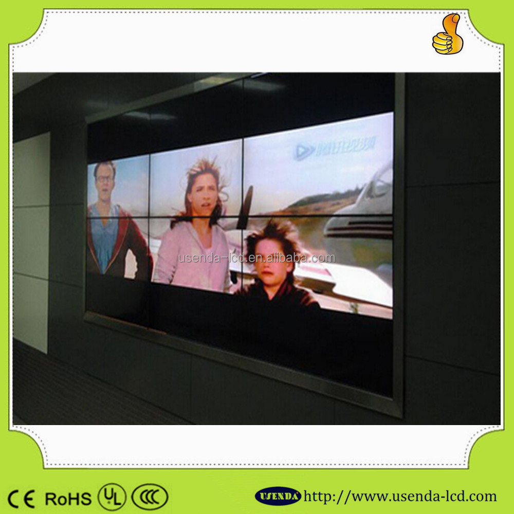 High tech 42inch 5.7mm seamless lcd splicing video display wall 2x2