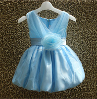 baby dress casual ball gown royal blue flower girl dress