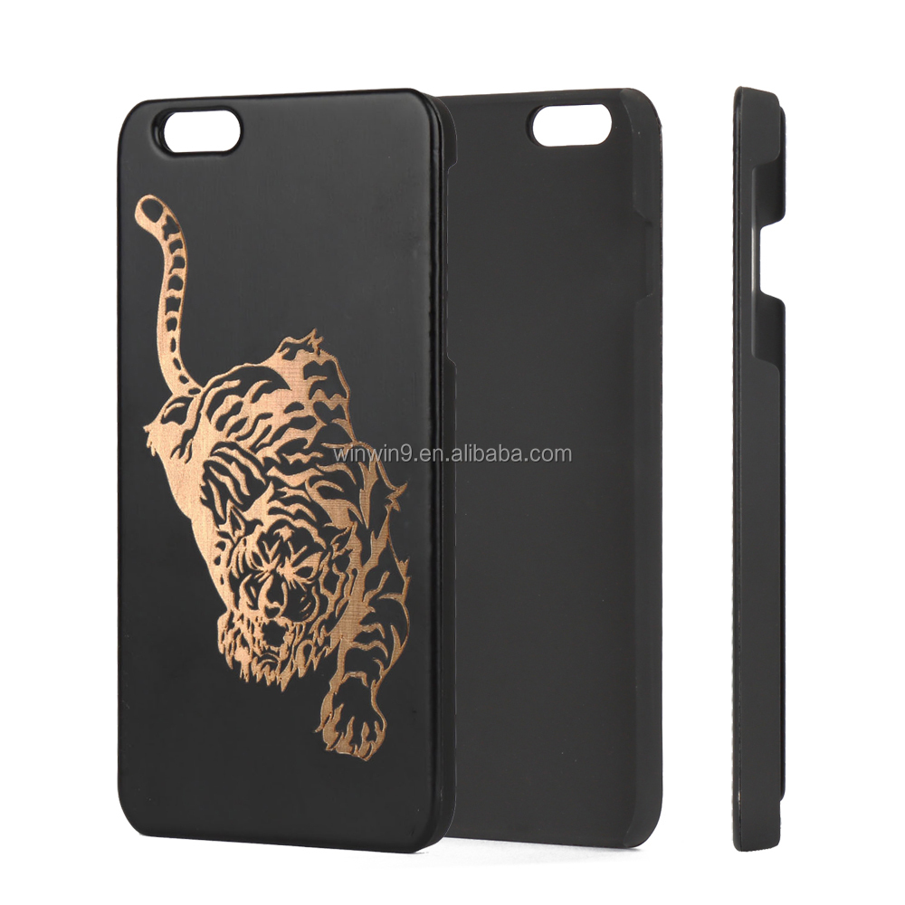 new arrivals 2018 black wood pc phone accessory for IPhone7, mobiles cell phones back cover for IPhone 8