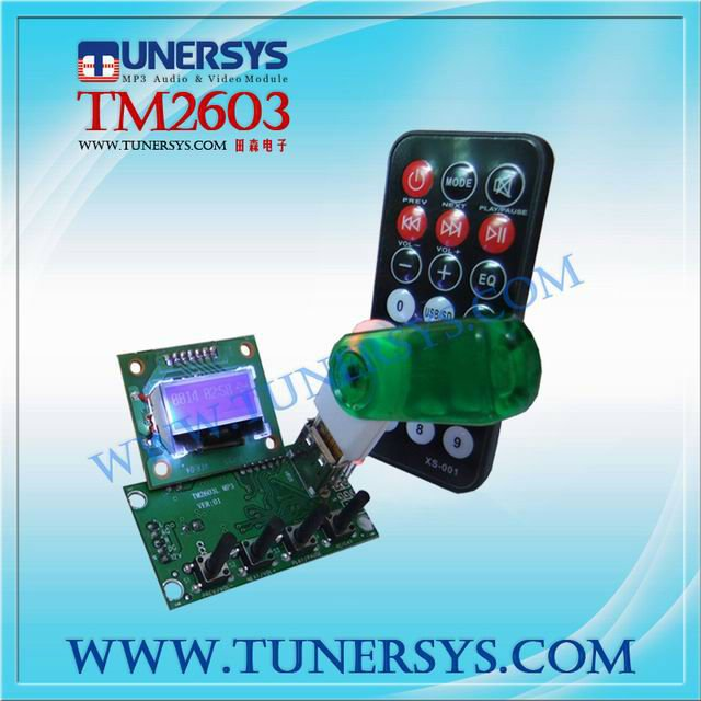 mp5 player pcb board TM2603