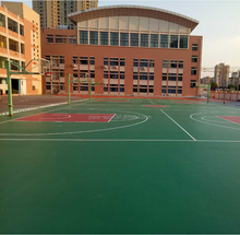 outdoor sbr Rubber acrylic basketball court floor covering