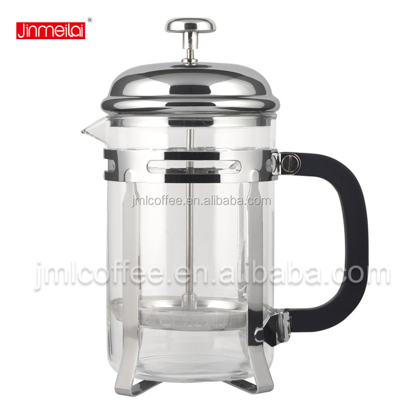Amazon hot sell 34oz 1000ml 800ml coffee maker tea press chorme plated french press in chrome