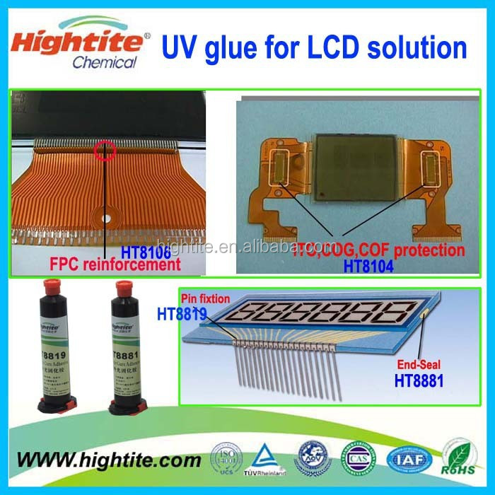 made in china LCM adhesive glue for sensor and touch screen lcd glue/ screen adhesive LCD TN STN seal protect UV