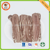 dog food factory direct supply chicken/duck/beef bacon slice dry pet snack
