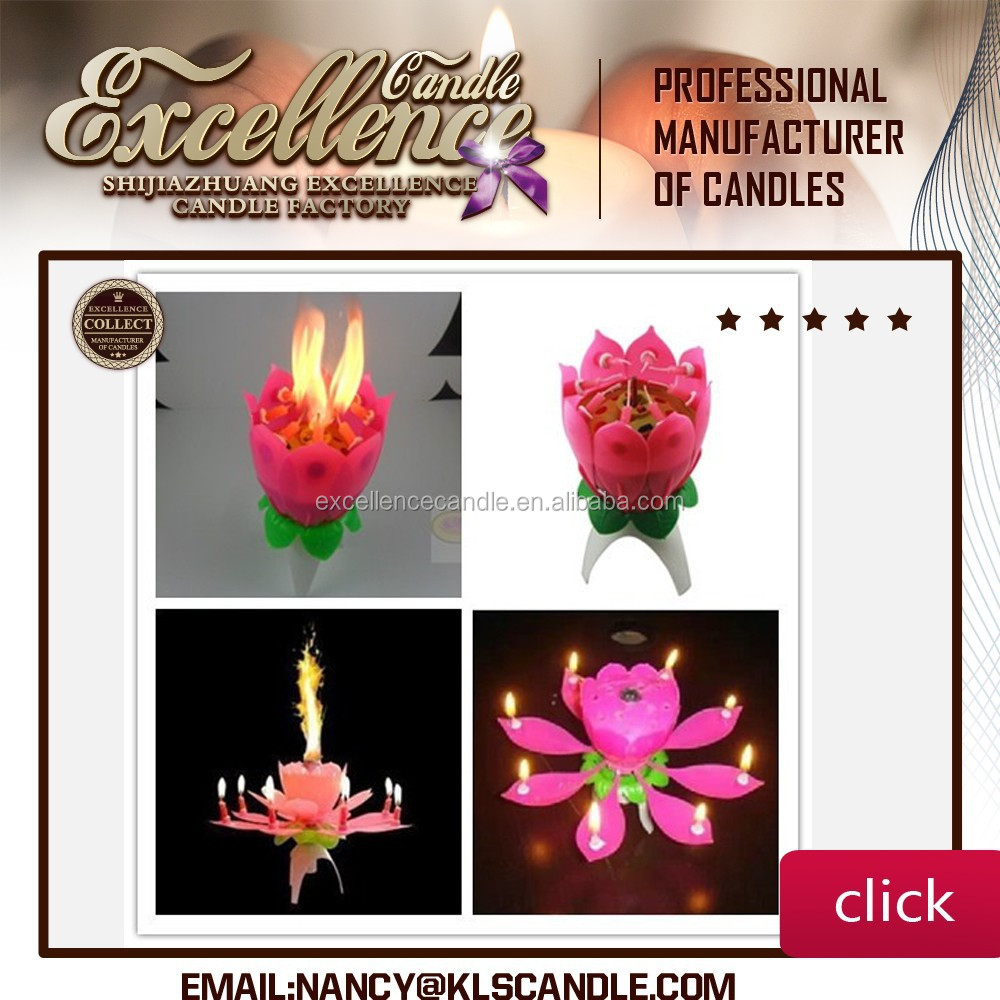 Mob:+86 15097479316 2015 lotus flower music fireworks birthday cake candle with high quality and cheapest Price