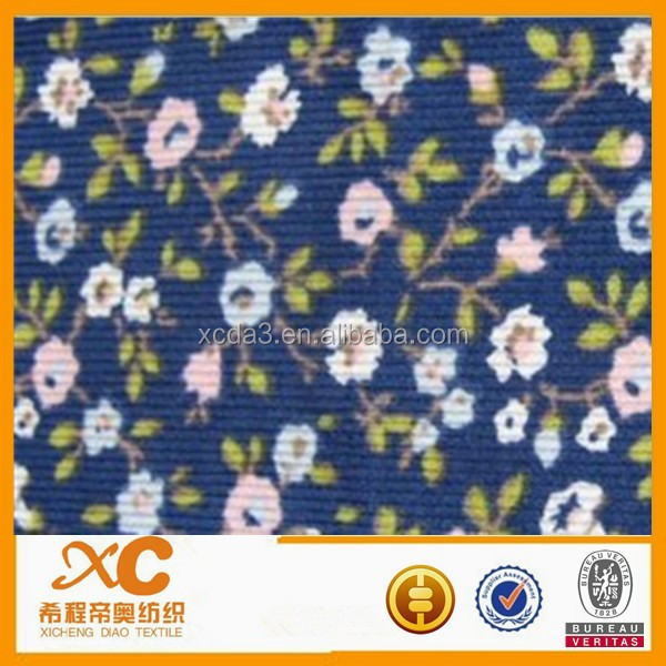 make-to-order cotton spandex patterned corduroy fabric