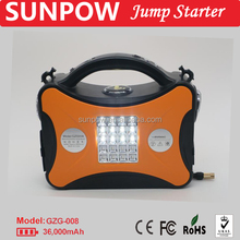 SUNPOW 12V and 24V gasoline and diesel car jump starter booster pack with air pump