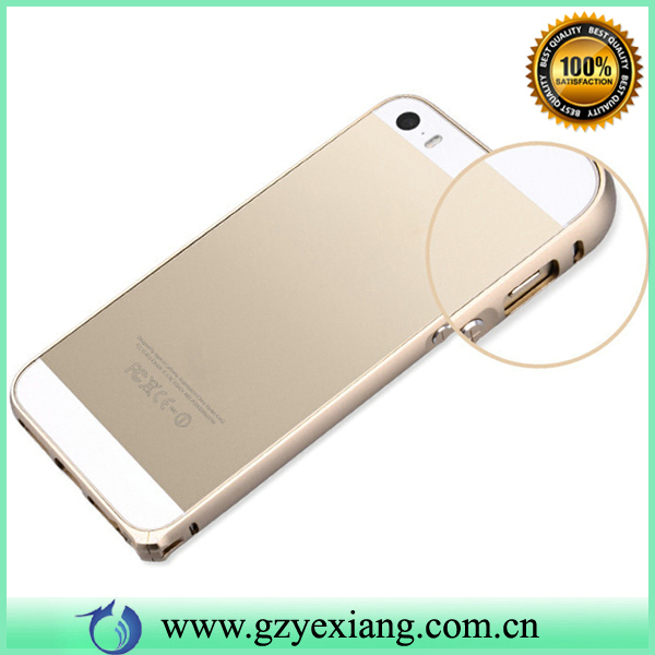 Gold Color Slim Camber Screw Metal Bumper Case For Iphone 5 Aluminum