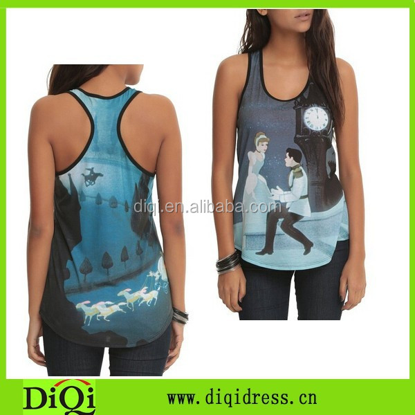 new style inexpensive fashionable lady's tanktop, female vintage tops