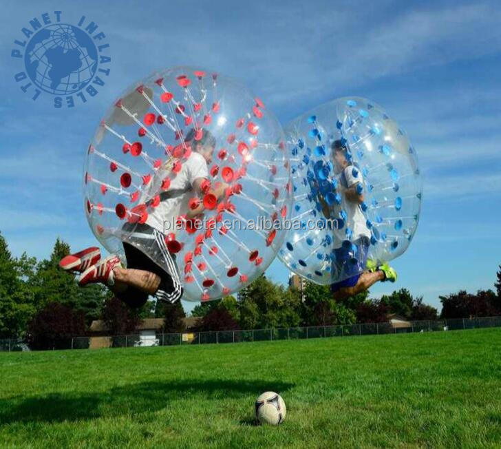 0.8mm 1.0mm TPU/PVC bubble football/soccer for kids adults