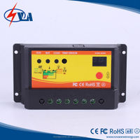 12/24v auto pwm time and light control solar charge controller for solar system