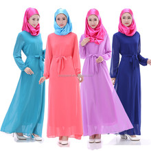 Sunday best Indonesia Malaysia Arab clothes musilm abaya for women chiffon long dress