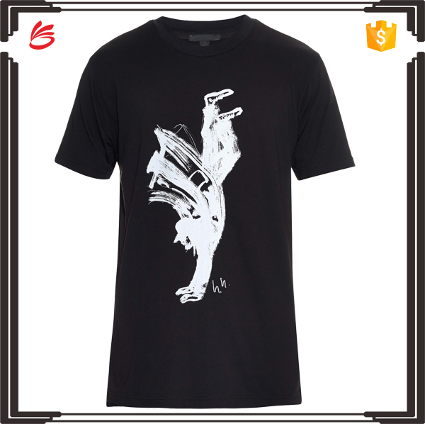 High quality silk screen printing 100% cotton t shirt with custom design