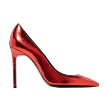 Shoes women heel 2018 classic style paint leather red ladies single shoes high heels