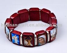 Zhejiang Huanan crafts of christian religious redwood oil dripped holy bead cord bracelet