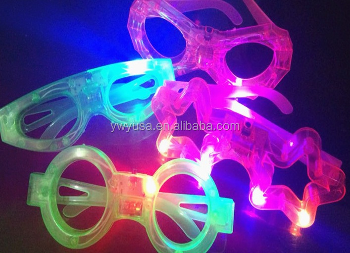 Popular Plastic Butterfly Flashing LED Sunglasses for party
