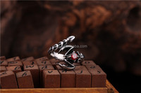 New Small Scorpion Ring Red CZ Stainless Steel Man's Biker Punk Ring