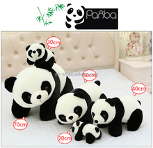 Small Fat Stuffed Panda Animal Toy Cute Panda Plush Toy in stock