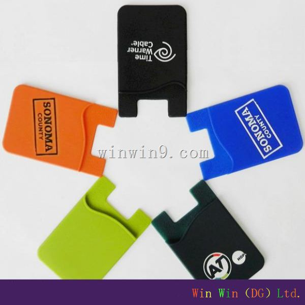 2014 <strong>Hot</strong> and fashion 3m silicone card holder,silicone smart card wallet 3m sticky,mobile accessory for 3M sticker