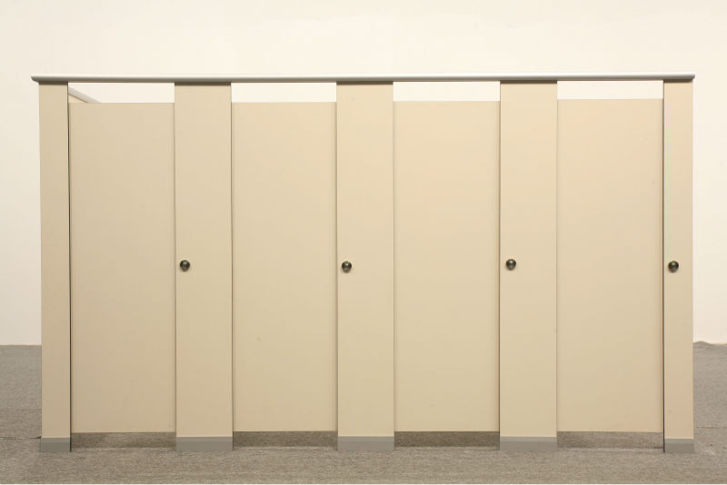 Wooden compact laminate changing room partition Phenolic Toilet Partitions