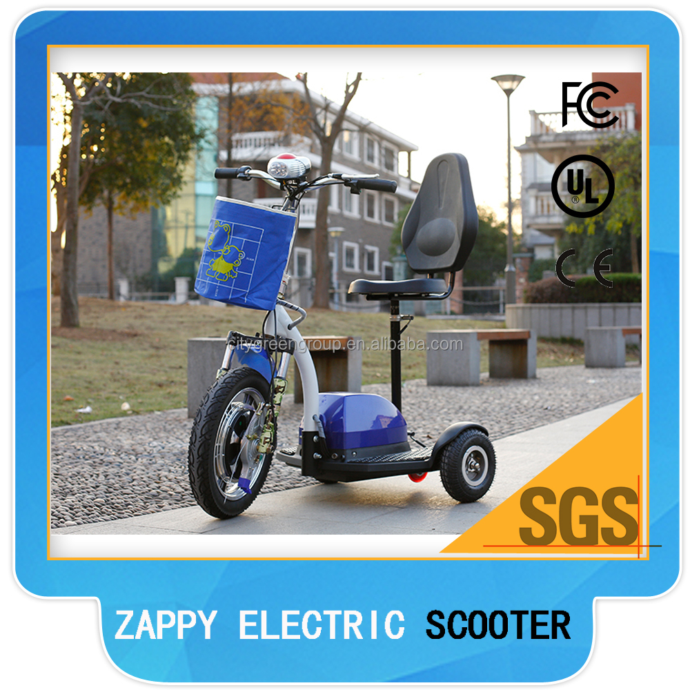 LCD display disc brake scooter with 3 wheels for Handicapped