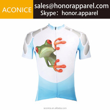 OEM cheap price beautiful and funny clothing high quality quick dry sublimation printing custom made and design cycling jersey