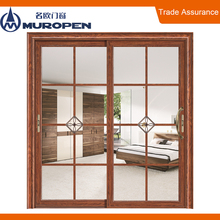 Newest design aluminium sliding door double triple track
