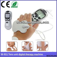 2 electrode body pads electric digital therapy acupuncture massager machine