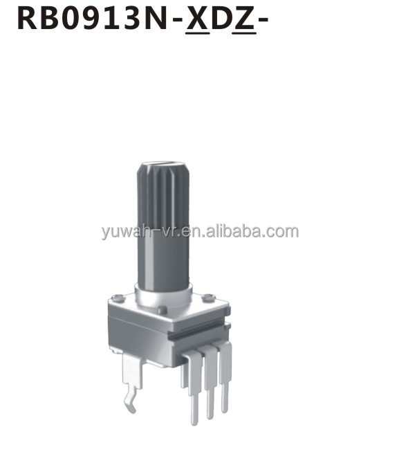 9mm 50K ohm single gang potentiometer with insulated shaft