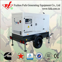Safe and Practical Design! 100kva trailer generators with soundproof canopy