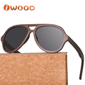 New Custom Logo Fashionable Vintage Polarized Gradient Aviator Bamboo Wooden Sunglasses 2018