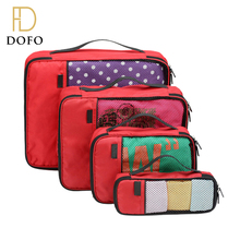 Lightweight waterproof wear-resistant red organizer travel packing cubes 4 pcs