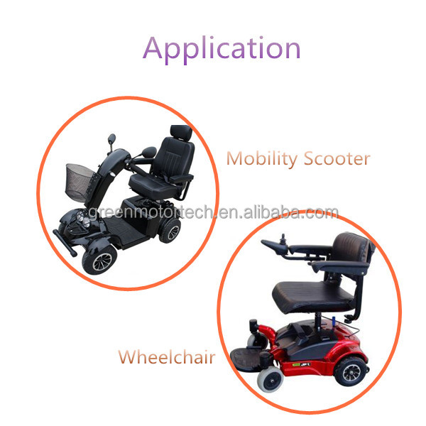 Model HQ-015 1200W transaxle for electric mobility scooter