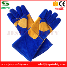 Sapphire Blue Cowhide Leather Gloves with Lining & Reinforcement on the palm and the thumb