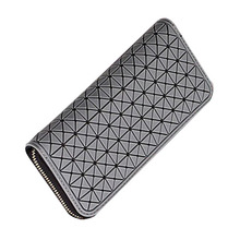 silicone long pu wallet for women clutch bag