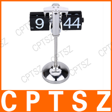 Hot Sale Small Scale Table Desktop Clock Hand-made Scalable Retro Gear Operated Flip Down Clock Stainless