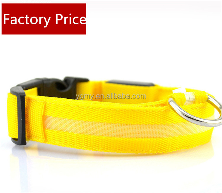 Nylon Pet LED Dog Collar Night Safety LED Flashing Glow LED Pet Supplies Dog Cat Collar Small Dogs Collars