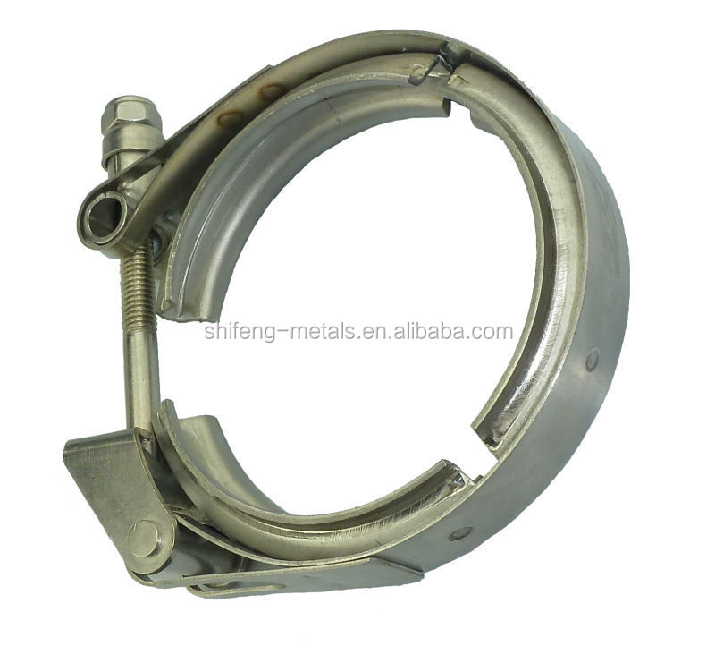 Very good quality with low price stainless steel T bolt easy open quick release Heavy duty v band clamps